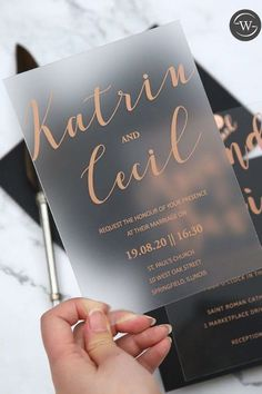 modern custom rose gold gold silver foil wedding invitations #wedding #weddinginvitations#stylishwedd #stylishweddinvitations #vellumweddinginvitations