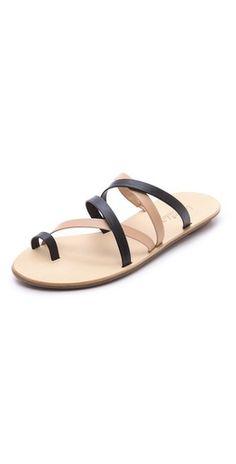 Loeffler Randall Sarie Strappy Flat Sandals (US$175)