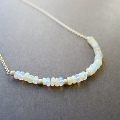 Opal Necklace Gold Opal Necklace Ethiopian Opals Gold