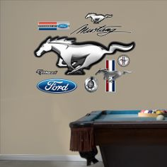 Ford Mustang Logo - Going on the garage wall, next to the '68