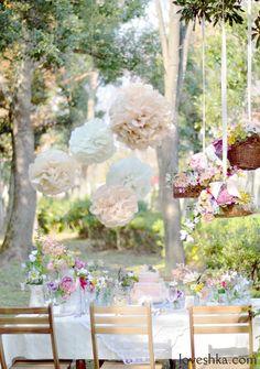 real wedding / 実際のプロデュース / paper flower / バスケット / ガーデン / flower / 装花 / ウェディング / 結婚式 / wedding / オリジナルウェディング / プティラブーシュカ / トキメクウェディング