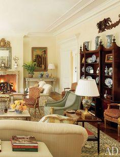 Georgian Style Living Room Virginia Home, Bunny Williams