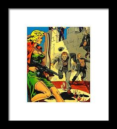 Popart Framed Print featuring the mixed media Prison Break by Otis Porritt