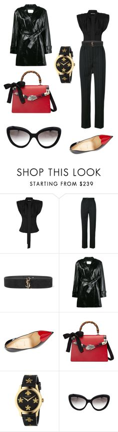 """Untitled #323"" by donia-tanase on Polyvore featuring Jacquemus, Seen, Yves Saint Laurent, Theyskens' Theory, Christian Louboutin, Gucci and Prada"