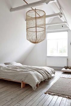 lantligt sovrum på v