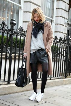 3 Ways To Style Leather Shorts In Cold Weather