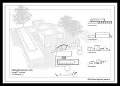 Koshino house - Lucas Araújo (Tp3) Koshino House, Hyogo, Tadao Ando, House Layouts, Floor Plans, Architectural Presentation, Buildings, House Ideas, Decor