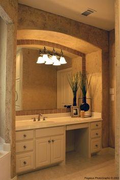 bathroom vanity with square sink bathroom ideas decoracion ba os rh ar pinterest com Single Bathroom Vanity with Sitting Area Closet to Built in Makeup Vanity