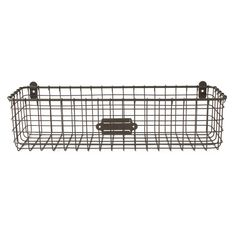 Spectrum Diversified Vintage Basket, Rustic Farmhouse Kitchen Storage Cabinet & Pantry Organizer, Wall-Mounted Storage & Organization, Pack of Industrial Gray Wall File Holder, Mail Organizer Wall, Wall Organization, Wall Storage, Storage Baskets, Mail Holder, Letter Holder, Hanging Organizer, Storage Ideas