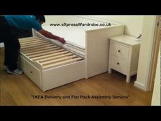 ikea hemnes daybed assembly instructions favorite places spaces pinterest buses videos. Black Bedroom Furniture Sets. Home Design Ideas