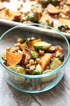 Make meal prep a breeze with these Easy Roasted Meal Prep Bowls. They are full of flavor and easy to make. Dairy free, gluten free, vegetarian, and vegan.