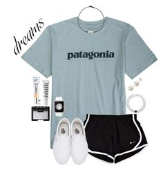Untitled A fashion look from July 2017 by gabyleoni featuring Vans, Lokai, Patagonia, NARS Cosmetics, MILK MAKEUP and It Cosmetics Adrette Outfits, Cute Lazy Outfits, Teenage Girl Outfits, Cute Outfits For School, Teen Fashion Outfits, Outfits For Teens, Sporty Fashion, Sporty Chic, Ski Fashion