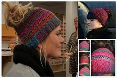 Everyone's Going Crazy for Knit and Crochet Ponytail Hats (aka the Messy Bun Beanie) - FREE Patterns #knit #crochet