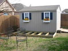 Many storage sheds are built in backyards, but never integrated into the yard itself. By that I mean most storage sheds tend to look like an... #deckbuildingstoragesheds