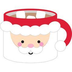 Silhouette Design Store - View Design santa mug - milk & cookies Cute Doodle Art, Cute Doodles, Cute Art, Cute Easy Drawings, Kawaii Drawings, Christmas Pictures, Christmas Art, Christmas Cookies, Christmas Ideas