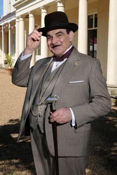 David Suchet as Hercule Poirot.  I love the handle detail on the walking stick