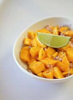 Mango salsa...so refreshing. An unexpected twist on a well known favorite.