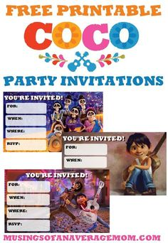 invitacion coco birthday pinterest birthday invitations