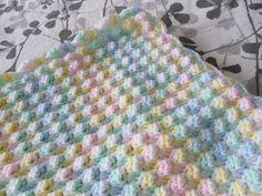 Multi-Colour Crochet Baby Blanket.