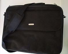 Targus Laptop Bag Black Notebook Travel Briefcase 15 Inch Nylon Padded Shoulder