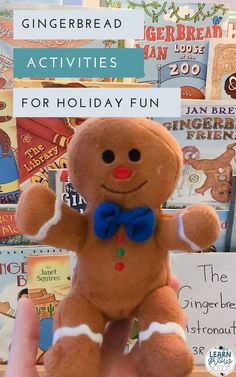 Gingerbread Man activities and ideas to create a gingerbread theme to help keep your students engagement before holiday break. This blog post give suggestions for fun gingerbread activities fo elementary students such as book comparisons, gingerbread STEM challenges, gingerbread narrative writing, gingerbread how to writing, gingerbread salt dough ornaments, etc.