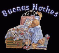 Imagen de buenas Noches oso orando