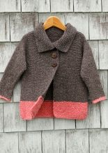 "Free pattern for Sawtelle Girls Cardigan size 2-12.  From web site for "" Berroco Fine Handknitting Yarns""   - garment pictured in size 2 -  www.berroco.com"