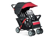 FREE SHIPPING - 2 Passenger Sport™ Splash Duo Strollers - Red