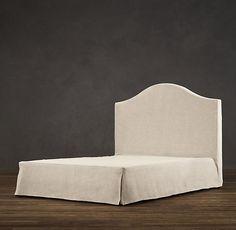 Belgian Slipcovered Camelback Headboard | Upholstered Beds | Restoration Hardware