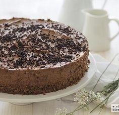 Tarta de mousse de chocolate. Receta sin horno Chocolate World, I Love Chocolate, Food Festival, I Foods, Vanilla Cake, Italian Recipes, Paella, Lasagna, Sweet Treats