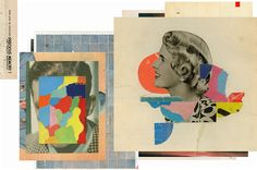 Stunning Collages Meld Vintage Glamour Shots with Colorful Pixels - Creators