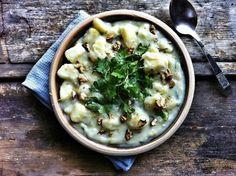Citromos-petrezselymes burgonyafőzelék Potato Recipes, Cheeseburger Chowder, Soup, Potatoes, Eat, Ethnic Recipes, Kitchen, Cooking, Potato