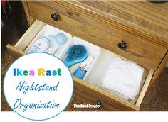 Ikea Rast Nightstand Organization