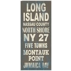 Long Island Transit Wall Décor.( Long Island will always be  My HOME....)