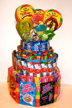 5 Ways to Add Candy To Your Event - Candy Cake Centerpieces by Covered in Candy - mazelmoments.com