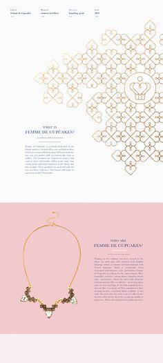 Femme de Cupcakes — women's jewellery branding on Behance