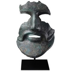 Ancient Greek Bronze Helmet Mask, 350 BC