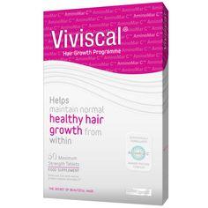 Viviscal pills for healthy hair growth.