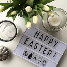 Happy Easter #lightbox #easter #tulips