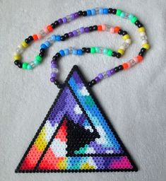 Tritonal Perler Bead Kandi Necklace Rave EDC FOR SALE • $12.00 • See Photos! Money Back Guarantee. This is a Tritonal Kandi necklace made from perler beads and pony beads. DUE TO A RECENT UNPLEASANT INTERACTION WITH A FELLOW KANDI SELLER HERE ON EBAY, I FEEL THE 252841509077