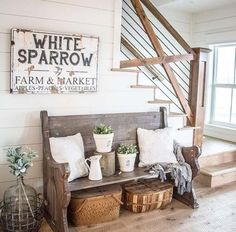 Rustic decor Shop - Rustic Family Name Sign Personalized Farmhouse Wall Art Farmhouse Wall Art, Farmhouse Remodel, Country Farmhouse Decor, Rustic Decor, Modern Farmhouse, Farmhouse Signs, Farmhouse Stairs, Antique Wall Decor, Country Wall Art