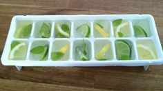Fruit In Ice Cubes To Add To Drinks