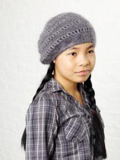Free knitting patterns Mira Kids Beret