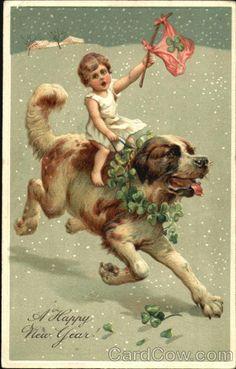 marinni   Собаки на старинных открытках
