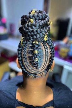 Braided Cornrow Hairstyles, Braided Hairstyles For Black Women, African Braids Hairstyles, Twist Hairstyles, Summer Hairstyles, Black Hair Bun, Braids For Black Hair, Braided Bun Black Hair, Braided Bun Styles