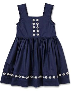 Embroidered Sleeveless Dress | David Jones