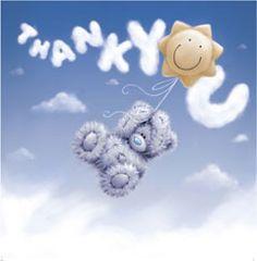 Tatty Teddy Me to You bear - thank you