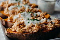 Stuffed Buffalo Sweet Potatoes - Powered by @ultimaterecipe