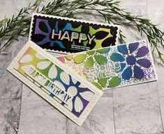 3 for 1 Rainbow Cards .... featuring Simon Says Stamp's Cosmo Flower Petals I Love Simon, Flower Petals, Flowers, Mermaid Lagoon, Rainbow Card, Love Time, Distress Oxide Ink, Die Cut Cards, Simon Says Stamp
