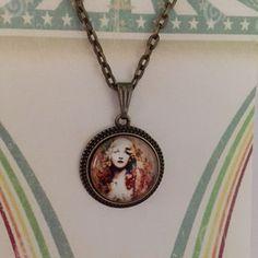 Gitana Gypsy Girl Necklace by flytomeshop on Etsy